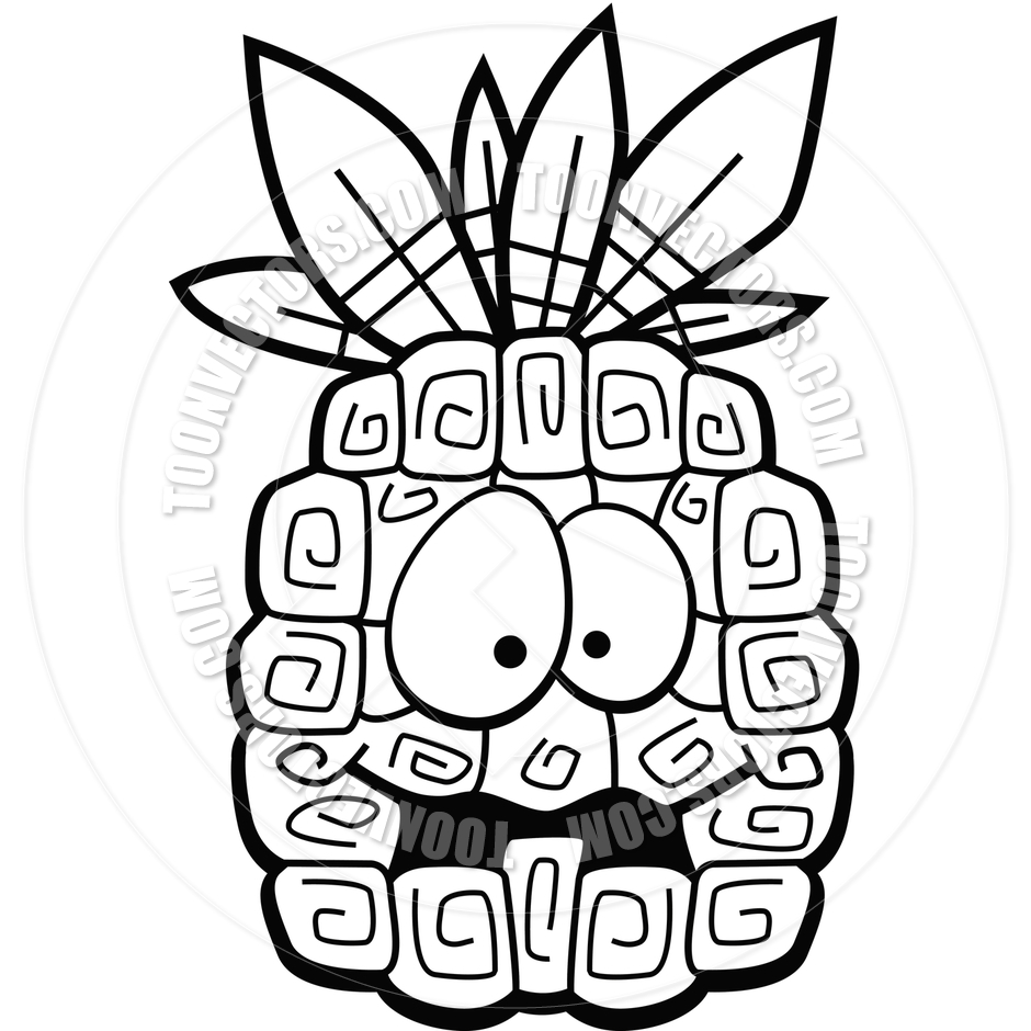 welcome pineapple clipart black and white | clipart panda - free