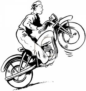 how to draw a police motorbike with a rider