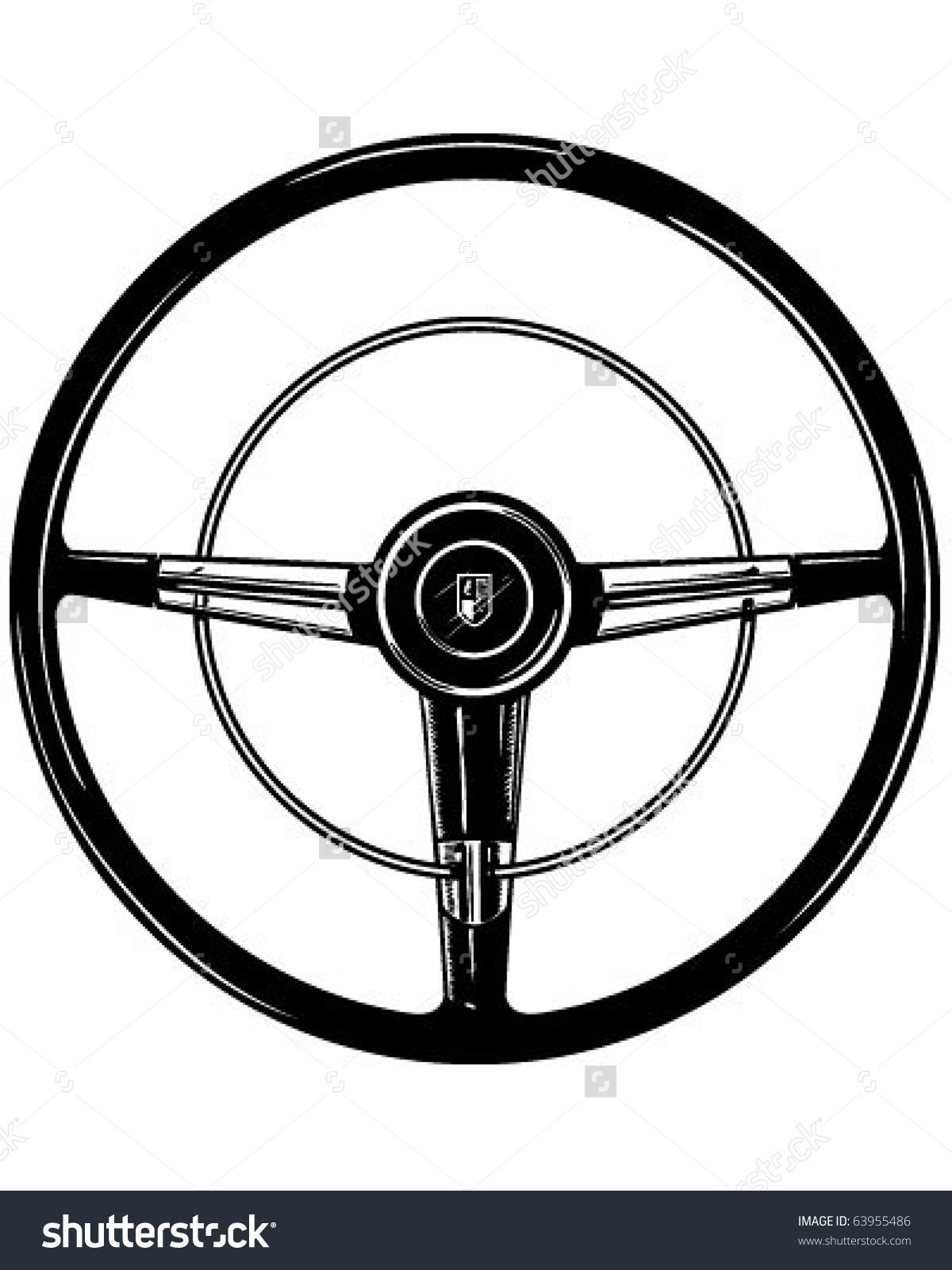 Retro Steering Wheel - Clipart | Clipart Panda - Free ...