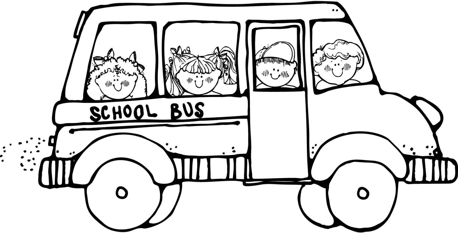 Wheels bus coloring pages ~ Back To School Coloring Page | Clipart Panda - Free Clipart Images