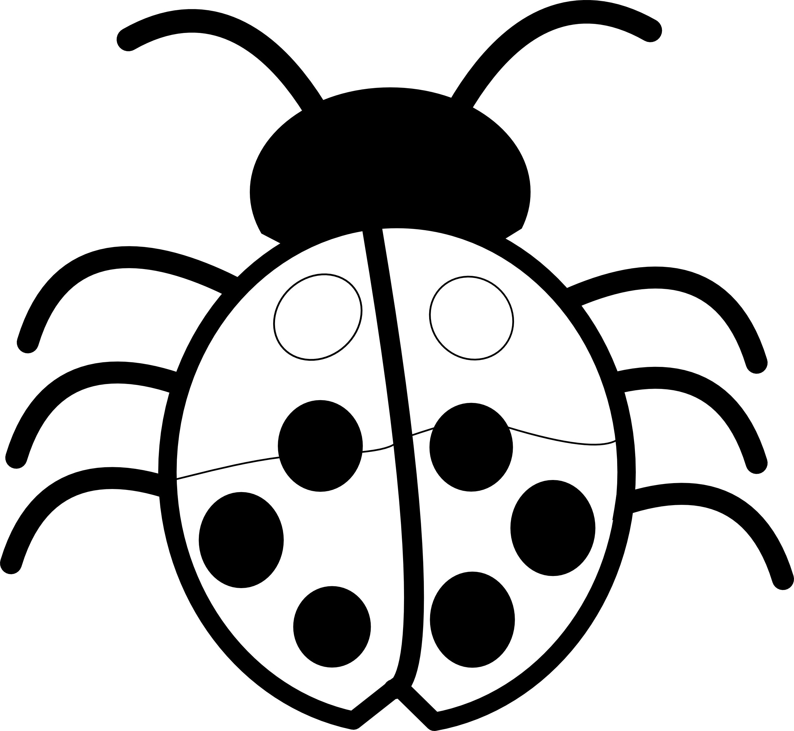 Vector Drawing Lines Libgdx : Ladybug clipart black and white panda free