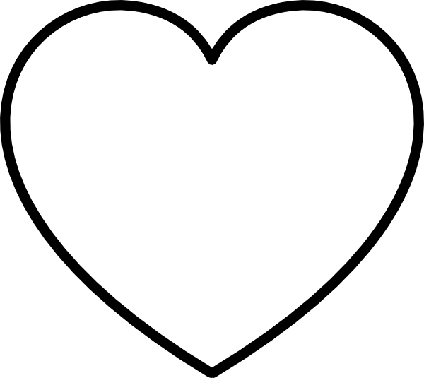 white 20heart 20black  White Heart Outline No Background