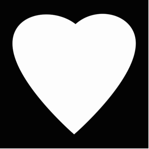 White Heart Black Background | Clipart Panda - Free ...