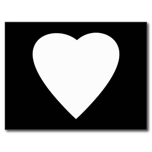 White Heart Black Background | Clipart Panda - Free ...