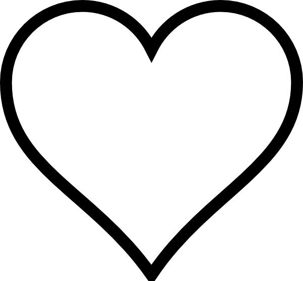 plain heart clip art vector clipart panda free clipart images rh clipartpanda com white heart clipart free White Heart Outline