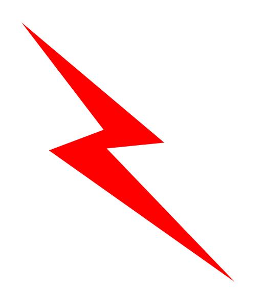 Lightning Bolt Clipart Black White Black And White Lightning Bolt