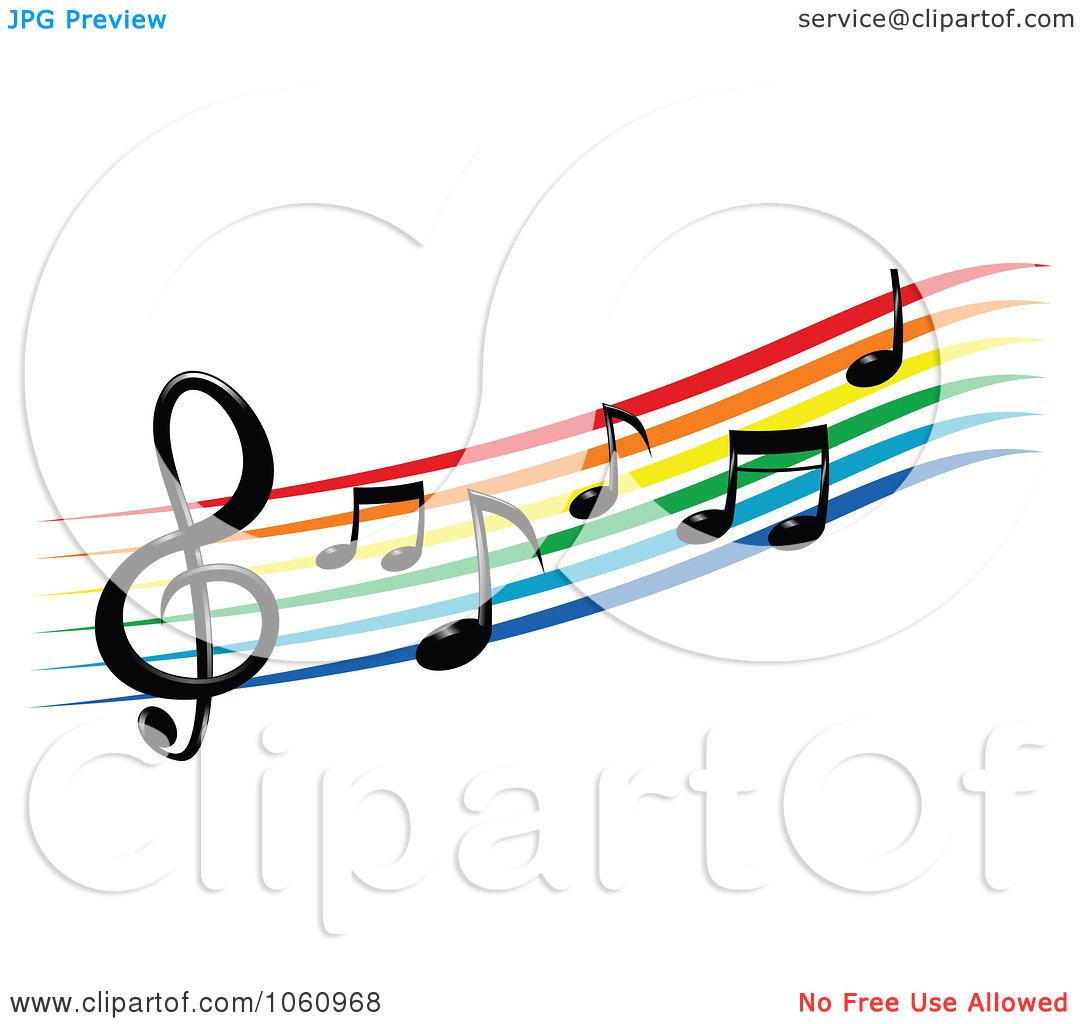 White Musical Notes Clip Art | Clipart Panda - Free ... Rainbow Music Notes Border