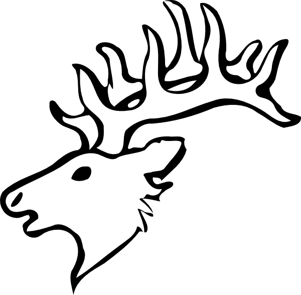 whitetail%20deer%20clipart%20black%20and%20white
