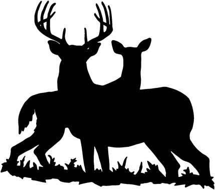 Whitetail Deer Clipart Black And White | Clipart Panda ...