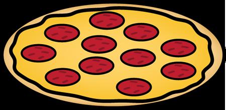 Pepperoni pizza. Whole clip art clipart