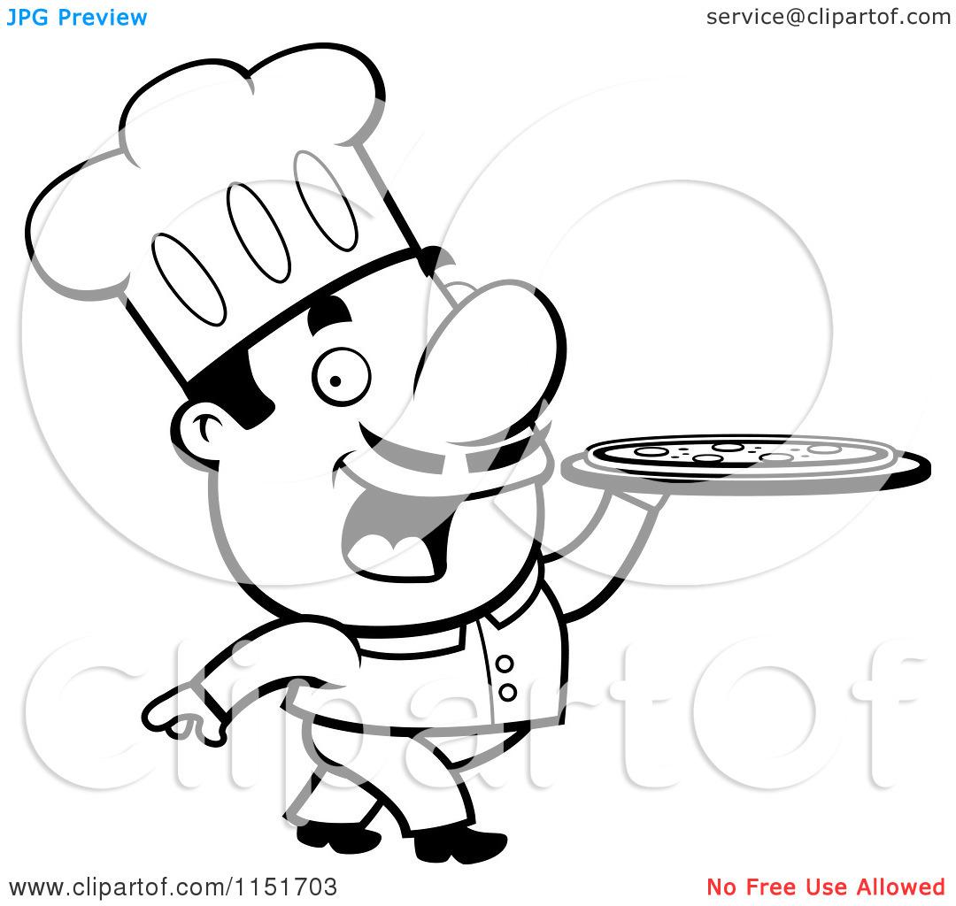 Italian chef Vector Clipart Royalty Free 5480 Italian