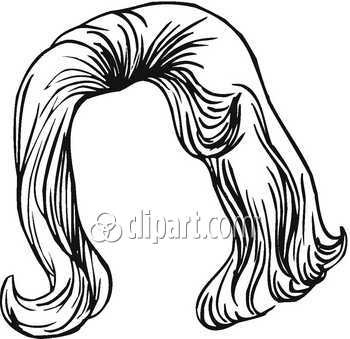 Wig Clipart Black And White | Clipart Panda - Free Clipart ...