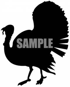 Free Black And White Turkey Clipart