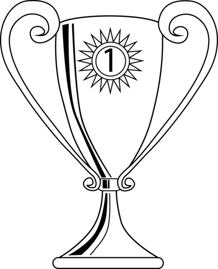 Trophy clipart black and white clipart panda free for World cup coloring pages