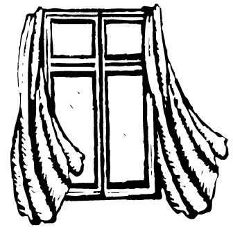Window with Curtains Clip Art
