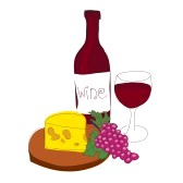 wine and cheese clipart black and white clipart panda free rh clipartpanda com wine and cheese party clipart Wine Glass Clip Art