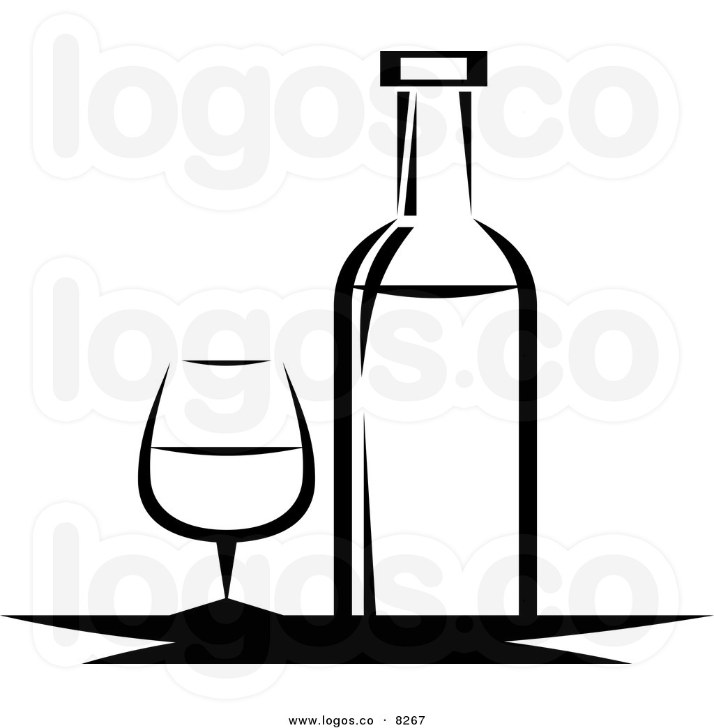 Black and White Wine Bottle | Clipart Panda - Free Clipart ...