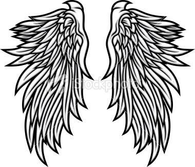 how to make big black angel wings
