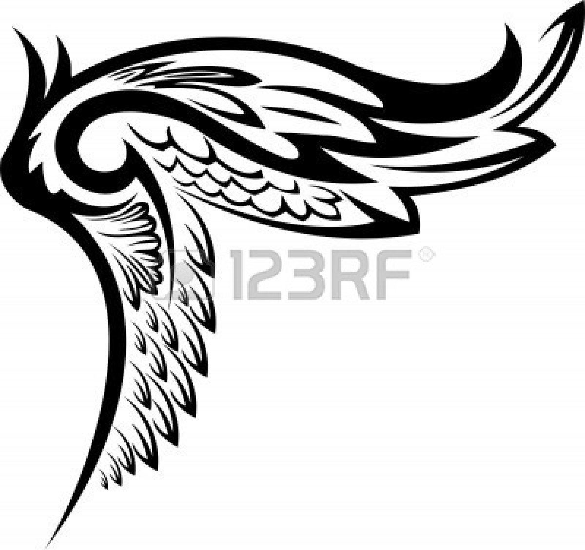 Tribal Wing Vector | www.pixshark.com - Images Galleries ...