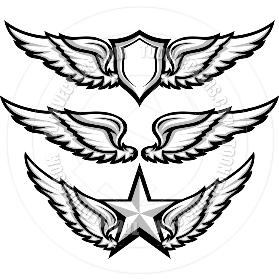 Eagle wings clipart