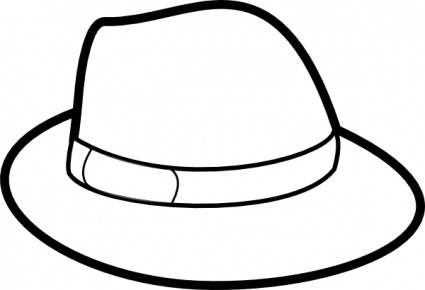 Cowboy Hat Clipart Black And White