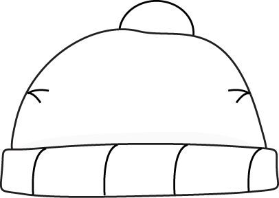 Winter Hat Clipart Black And White
