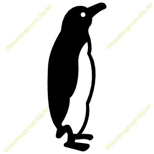 1431 cute clipart penguin  Public domain vectors