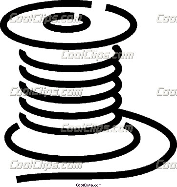 Wire Clip Art30lfsoccrt on flat electrical wire
