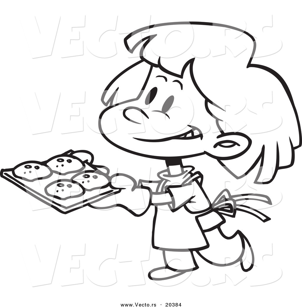 Bake cookies clipart wallpapers gallery for Baking coloring pages