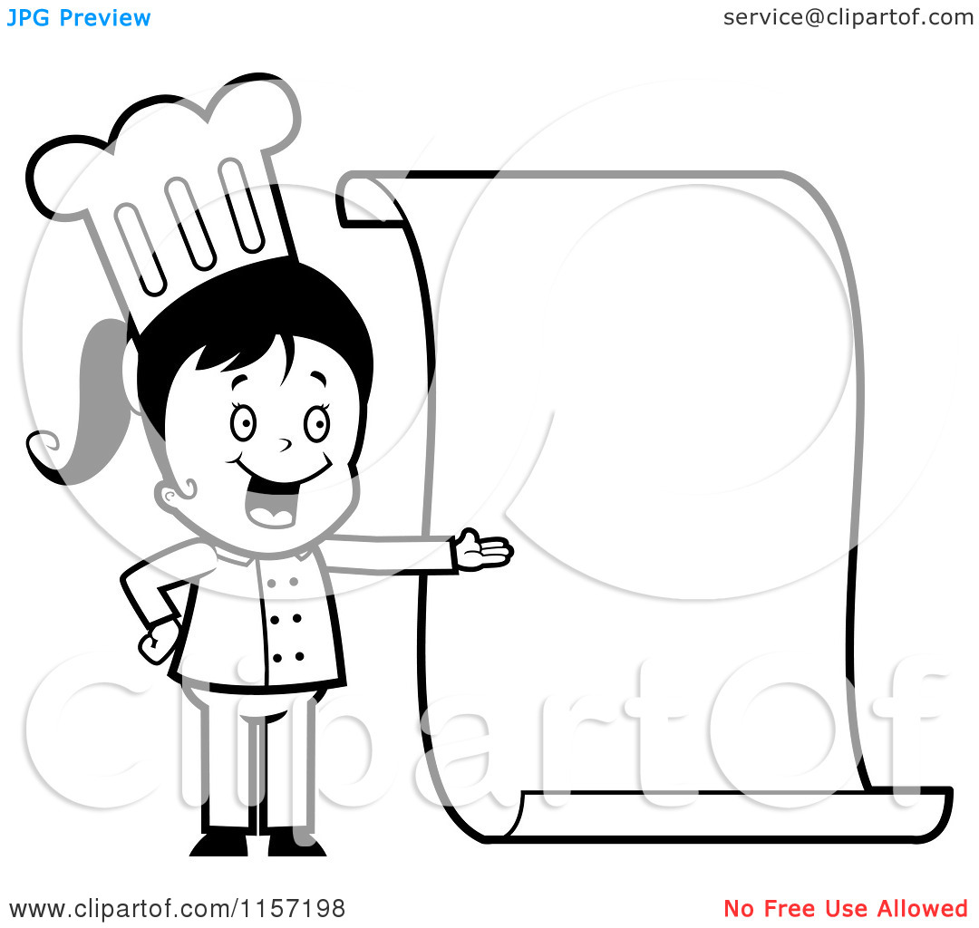 Kids Cooking Clipart Black And White Clipart Panda