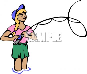 Girl Fly Fishing | Clipart Panda - Free Clipart Images
