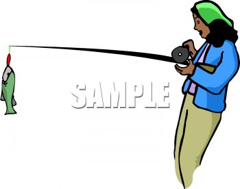 Black Woman Fishing | Clipart Panda - Free Clipart Images
