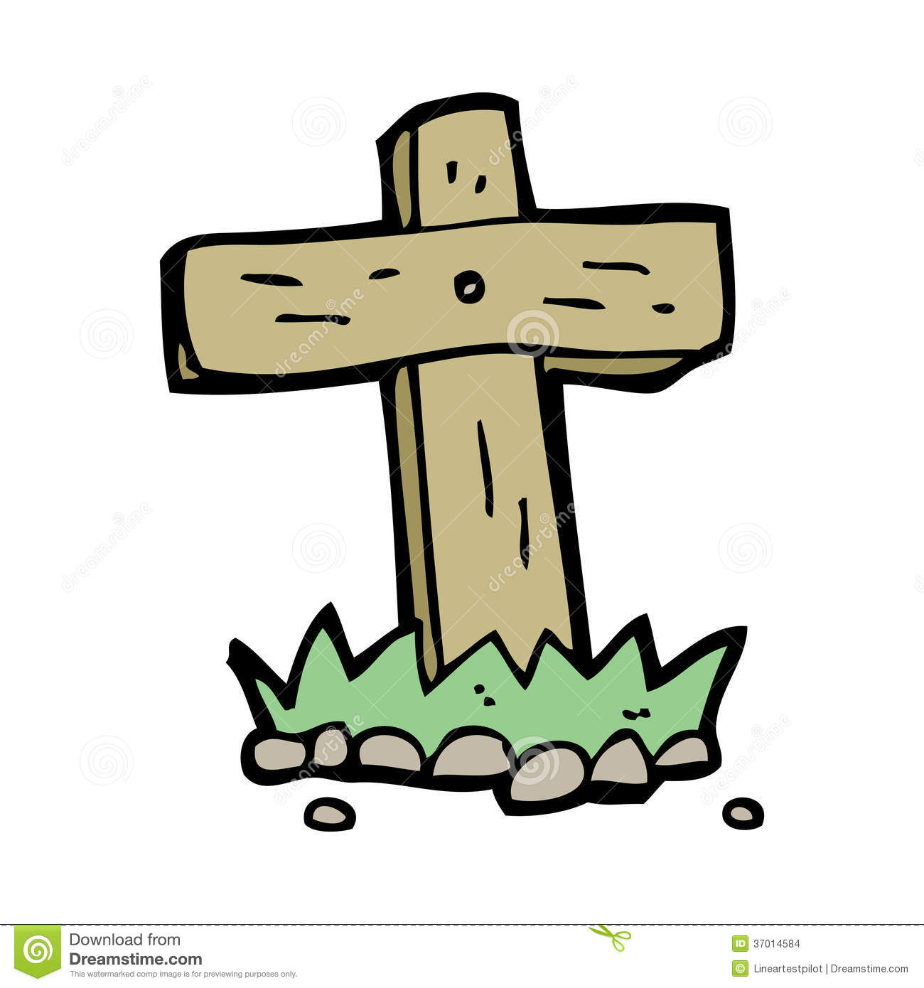 Cross Cartoon Drawing Wooden Cross Drawing
