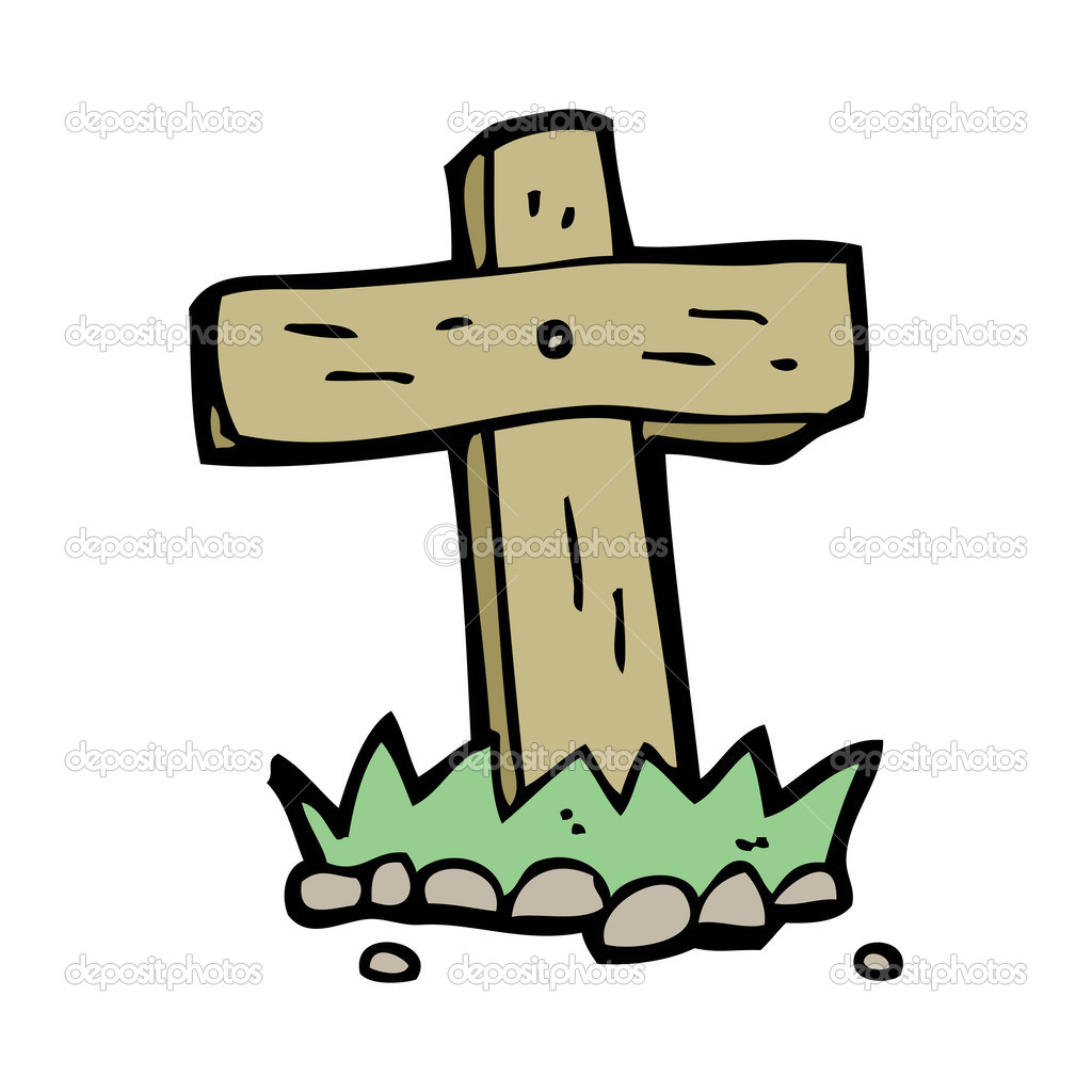 Cross Cartoon Drawing Wooden Cross Cartoon Clipart