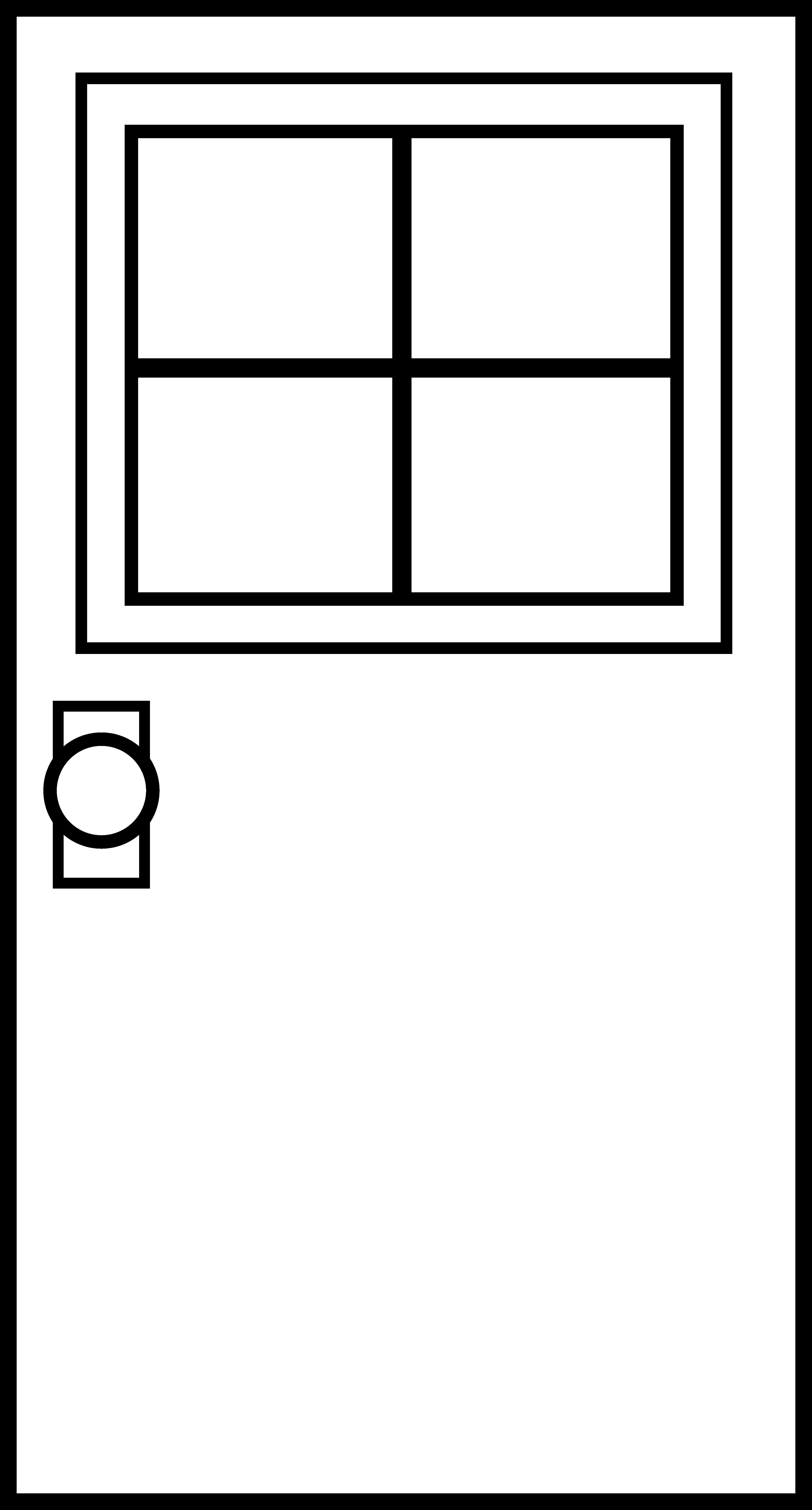 Window black and white clipart panda free clipart images for Window door images