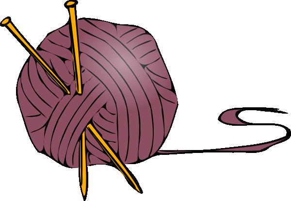 Knitting Yarn Needles clip art