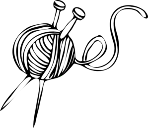 Yarn Clipart Black And White Knitting Clipart | Cli...