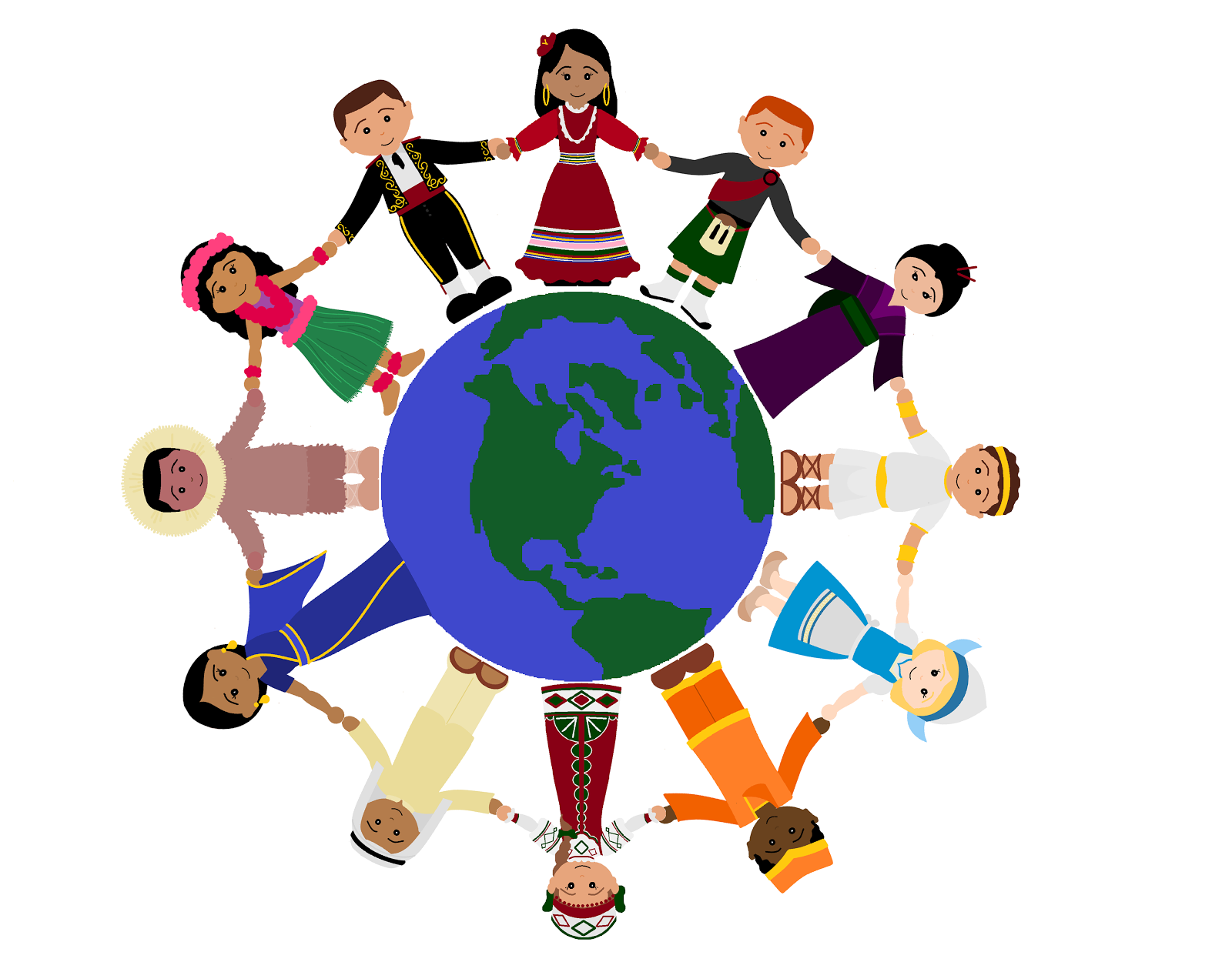 Children around the world clipart clipart panda free for Art from around the world