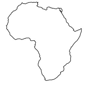 Continents coloring page clipart panda free clipart images for Map of africa coloring page