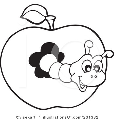 Book Worm Clipart Black And White Clipart Panda Free Clipart Images