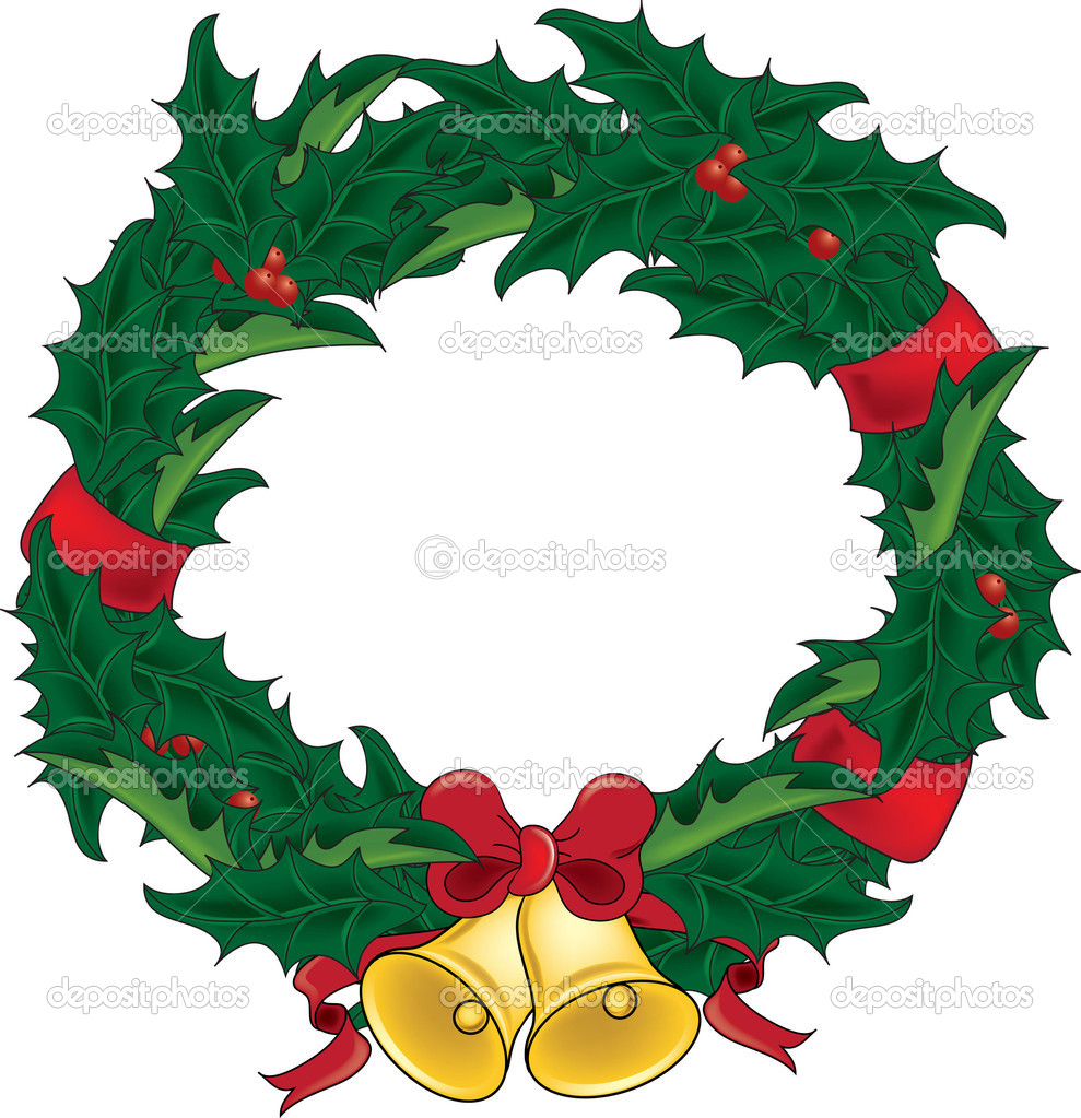 Displaying 18> Images For - Christmas Wreaths With Lights Clip Art...