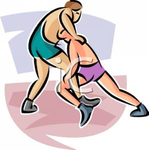 wrestling clipart