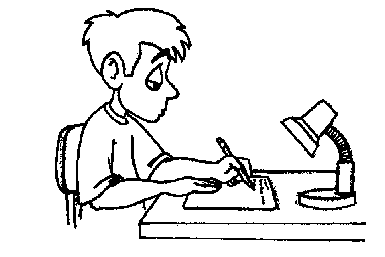 Children Writing Clipart Black And White | Clipart Panda ...