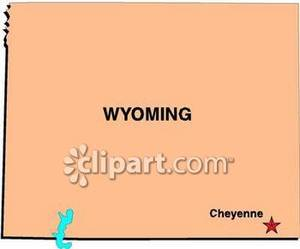 Free Wyoming State Map.Map Of The State Of Wyoming Clipart Panda Free Clipart Images