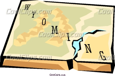 Free Wyoming State Map.Wyoming State Map Clipart Panda Free Clipart Images
