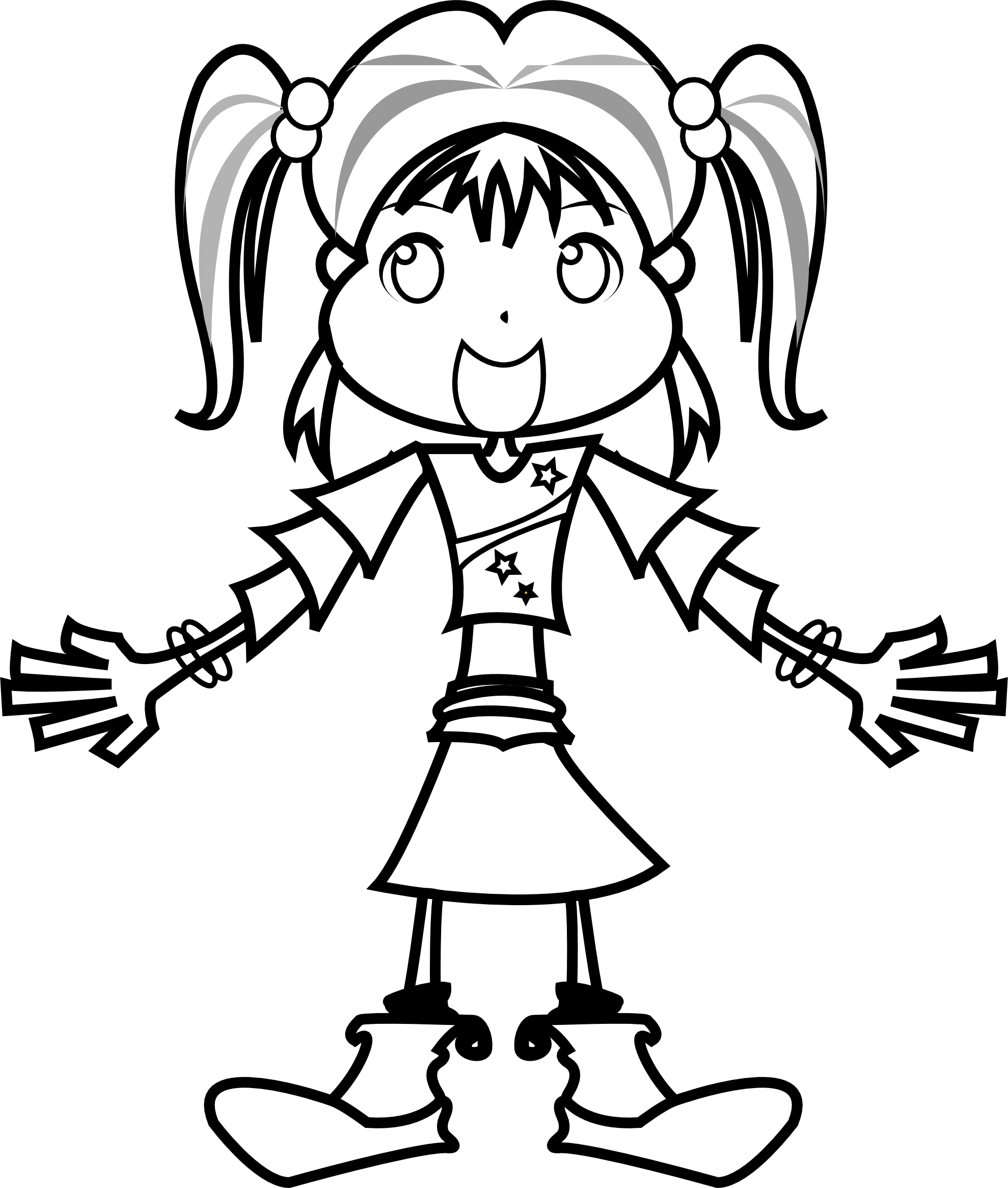 Sad Girl Clipart Black And White | Clipart Panda - Free ...