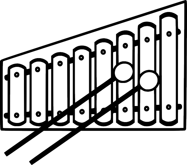 Line Drawing Of Xylophone : Xylophone clipart black and white panda free