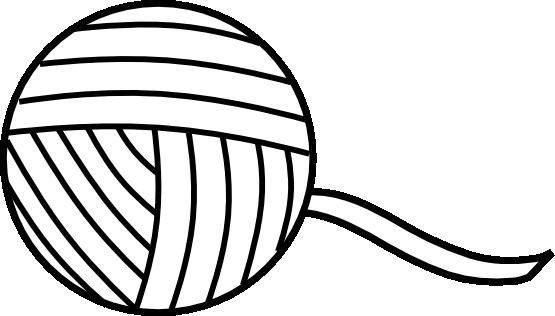 Yarn Clipart Black And White | Clipart Panda - Free ...