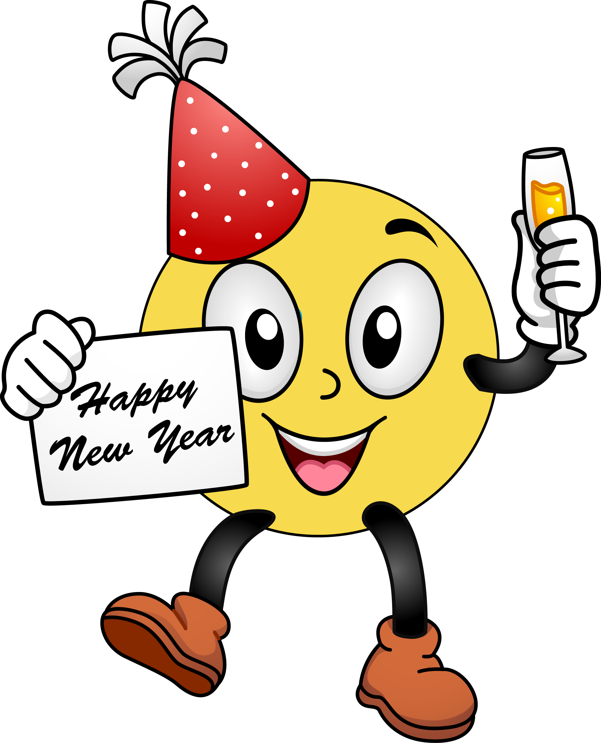 happy new year smiley face clip art - photo #1
