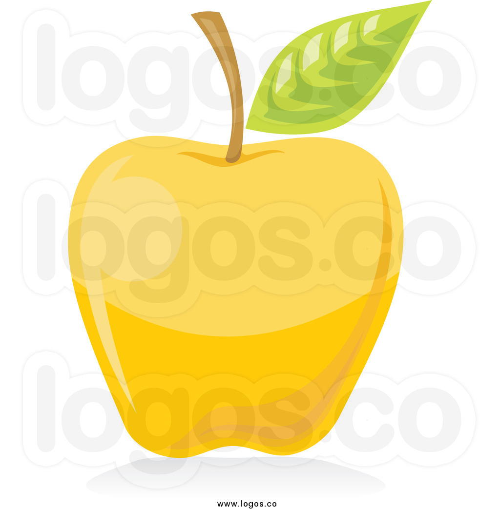 yellow-apple-clipart-royalty-free-clip-art-vector-logo-of-a-yellow